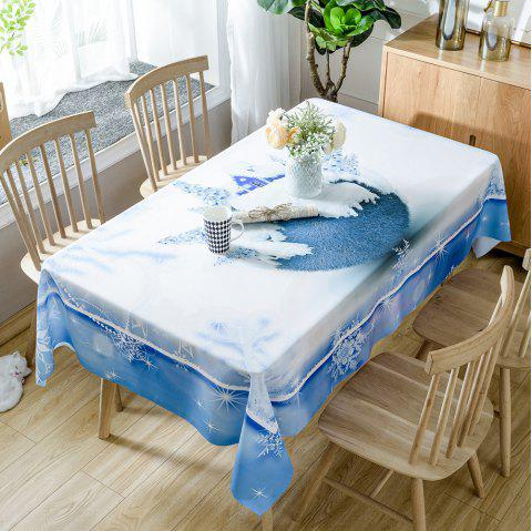 Christmas Tree House Print Waterproof Tablecloth - WHITE W54 INCH * L72 INCH