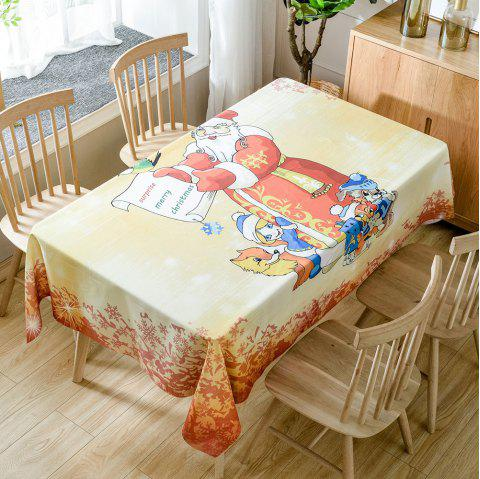 Gracious Santa Claus Printed Home Decals Waterproof Fabric Table Cloth - RED W54 INCH * L72 INCH