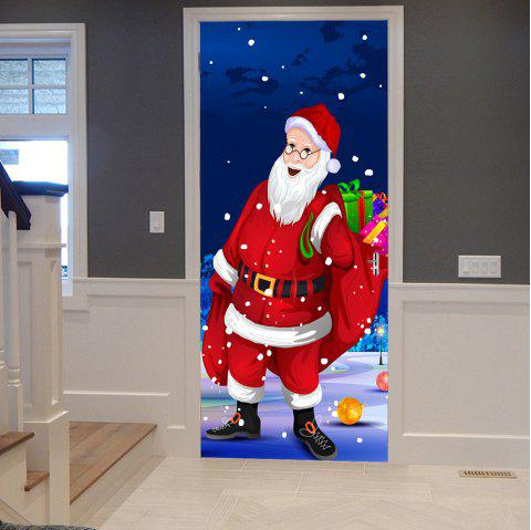 Christmas Santa Presents Pattern Door Stickers - COLORMIX 38.5*200CM*2PCS