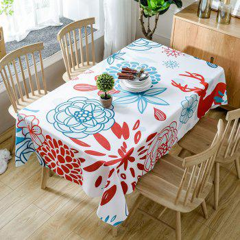 Floral Printed Home Decoration Waterproof Table Cloth - COLORMIX COLORMIX