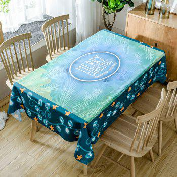 Christmas Theme Star Print Waterproof Fabric Table Cloth - COLORMIX COLORMIX