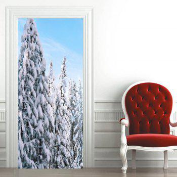 Snow Tree Pattern Door Cover Stickers - COLORMIX 38.5*200CM*2PCS