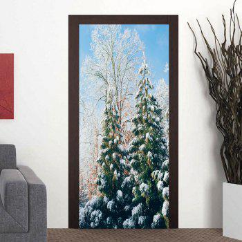 Snow Tree Pattern Door Stickers - COLORMIX COLORMIX