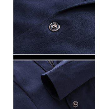 Slim Fit Stand Collar One Button Blazer - CADETBLUE CADETBLUE