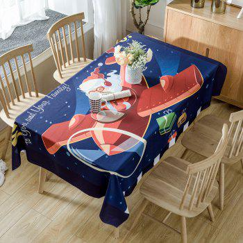 Santa Claus Drives a Plane Pattern Table Cloth - RED RED