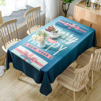 Christmas Greeting Word Printed Waterproof Table Cloth - COLORMIX W54 INCH * L54 INCH