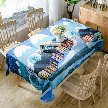 Christmas Village Print Waterproof Tablecloth - COLORMIX COLORMIX