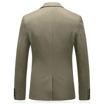 Metal and Handkerchief Embellished Blazer - CAMEL 3XL