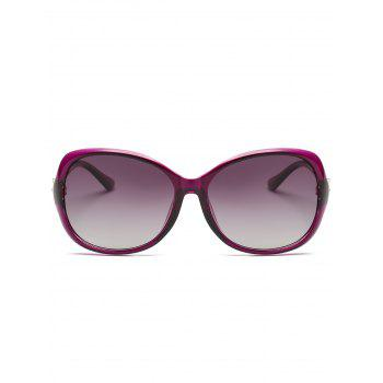 Metal Floral Embellished Oversized Sun Shades Sunglasses -  PURPLE