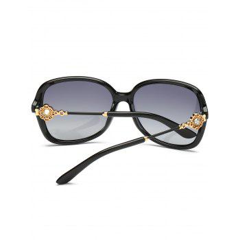 Floral Shape Rhinestone Inlay Decorated Sun Shades Sunglasses -  PHOTO BLACK