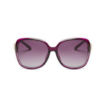 Floral Shape Rhinestone Inlay Decorated Sun Shades Sunglasses - PURPLE