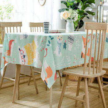 Christmas Animals Print Waterproof Tablecloth - COLORMIX W60 INCH * L84 INCH