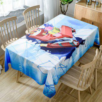 Christmas Sleigh Gifts Print Waterproof Tablecloth - COLORMIX COLORMIX