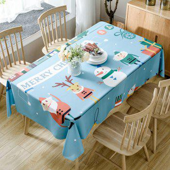Christmas Theme Printed Home Decorative Waterproof Table Cloth - COLORMIX W54 INCH * L72 INCH