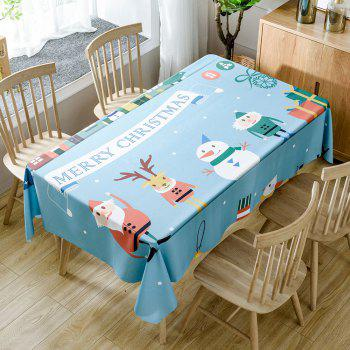 Christmas Theme Printed Home Decorative Waterproof Table Cloth - COLORMIX COLORMIX