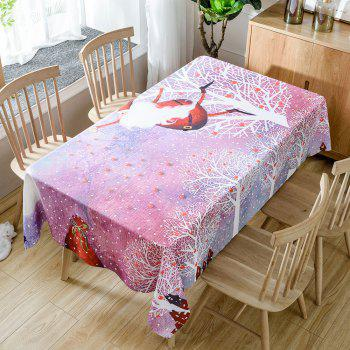 Christmas Trees Santa Print Waterproof Tablecloth - COLORMIX W54 INCH * L72 INCH