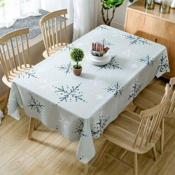 Christmas Snowflakes Print Waterproof Tablecloth - COLORMIX COLORMIX