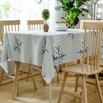 Nappe de Table Imperméable Imprimé Flocons de Neige de Noël - multicolore W54 INCH * L54 INCH