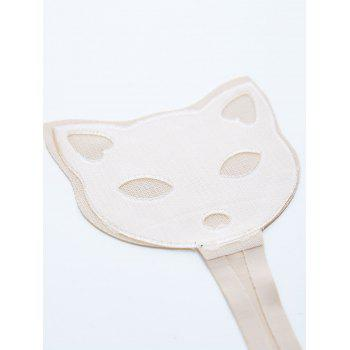 Cat Pattern Invisible Sticky Panties C-string - COMPLEXION M