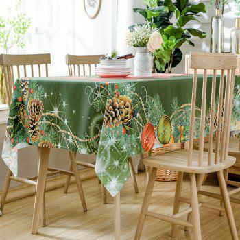 Christmas Pine Ornaments Print Waterproof Tablecloth - COLORMIX W60 INCH * L84 INCH