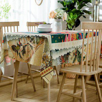 Christmas Cartoon Forest Print Waterproof Tablecloth - COLORMIX W60 INCH * L84 INCH