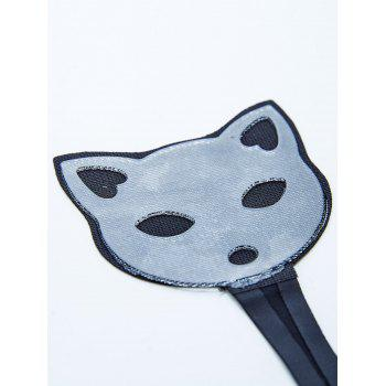 Cat Pattern Invisible Sticky Panties - BLACK S
