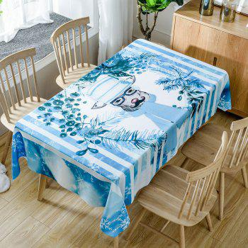 Christmas Mr Deer Print Waterproof Tablecloth - COLORMIX COLORMIX