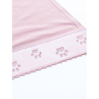Cat Pattern Invisible Sticky Panties - PINK L