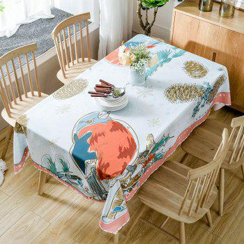 Christmas Birds Pine Cone Print Waterproof Tablecloth - COLORMIX COLORMIX