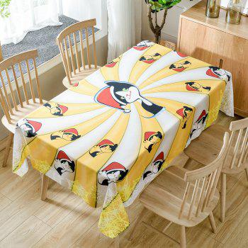 Christmas Cats Print Waterproof Tablecloth - YELLOW W60 INCH * L84 INCH