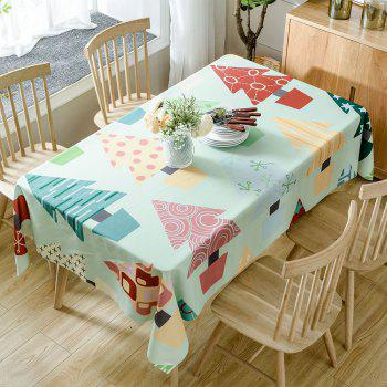 Christmas Cartoon Trees Print Waterproof Tablecloth - COLORMIX W60 INCH * L84 INCH