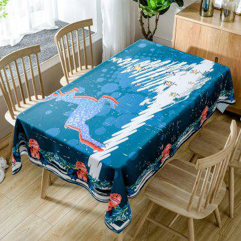 Christmas Deer Tree Print Waterproof Tablecloth - COLORMIX COLORMIX