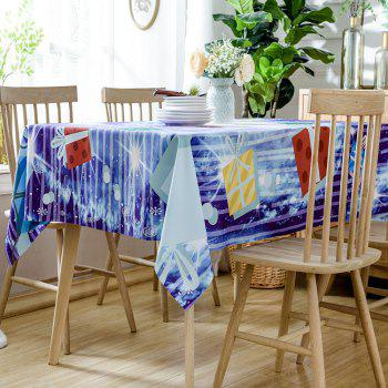 Christmas Gift Boxes Printed Waterproof Table Cloth - COLORMIX COLORMIX