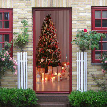 Christmas Tree Presents Pattern Door Stickers - COLORMIX COLORMIX