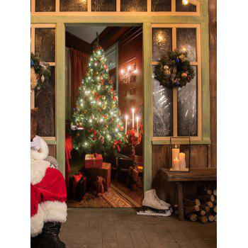 Christmas Tree Present Pattern Door Stickers - COLORMIX COLORMIX