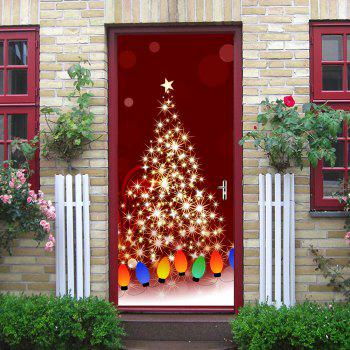 Christmas Starlight String Light Pattern Door Stickers - COLORMIX COLORMIX