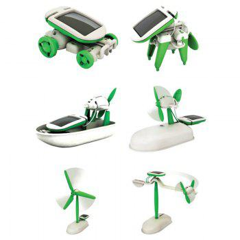 Solar Powered 6-in-1 Educational Puzzle Assembly Toy Kit