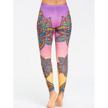Mandalay Floral Printed Ombre Yoga Leggings - FLORAL FLORAL