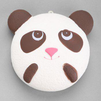 Slow Rising Squishy Panda Head PU Simulation Toy - WHITE/BROWN