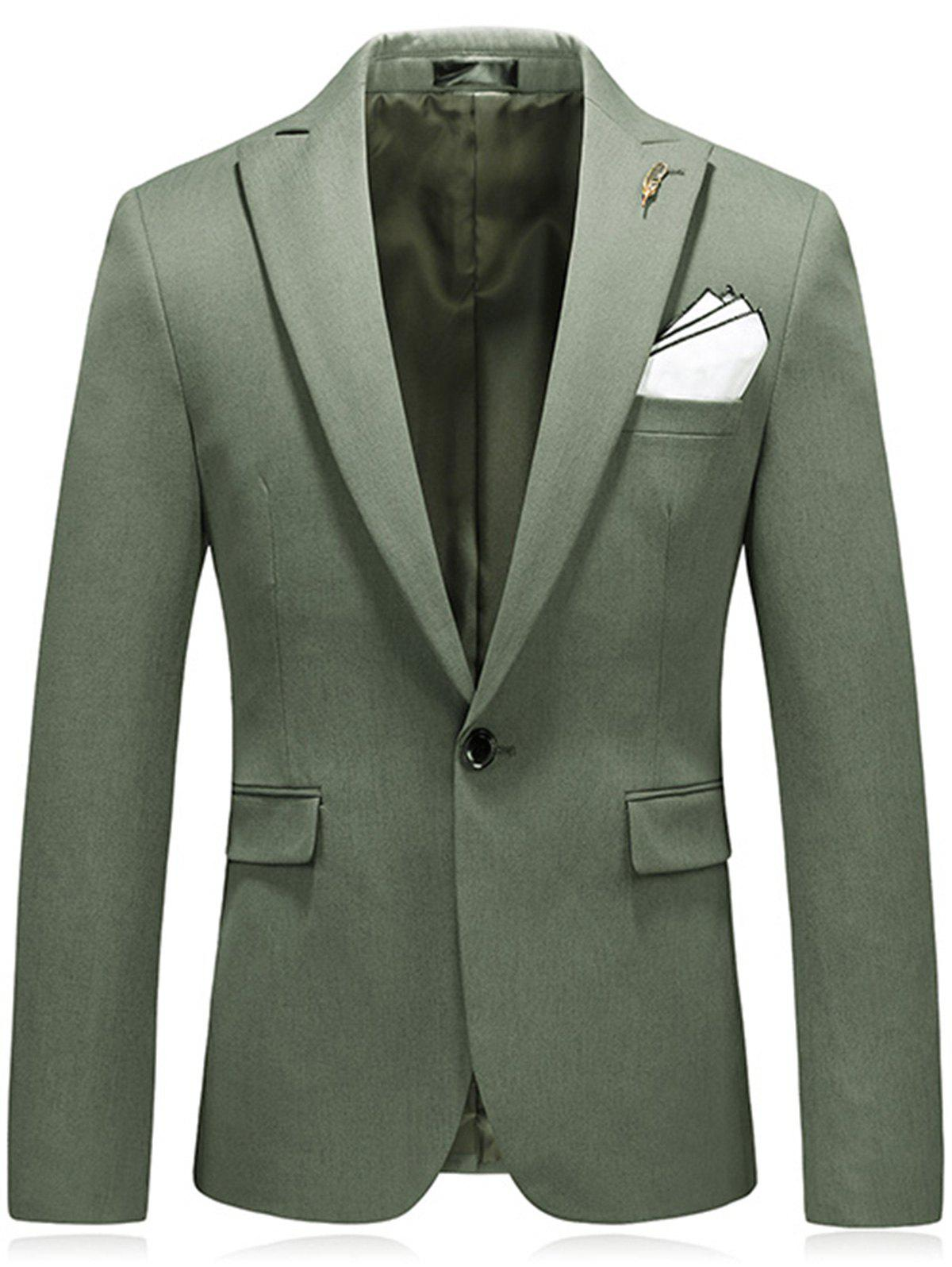 Metal and Handkerchief Embellished Blazer - GREEN 3XL