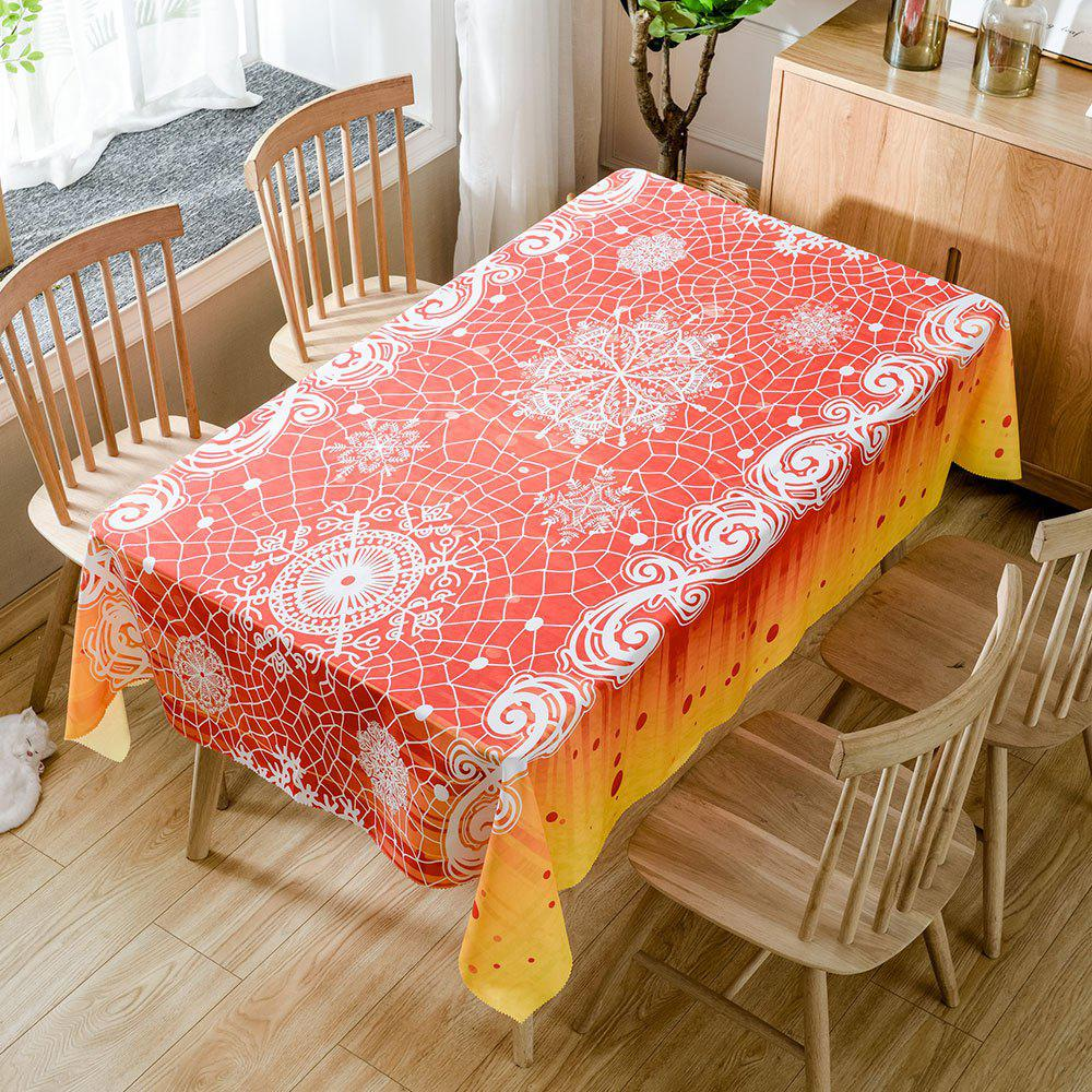 Christmas Snowflake Pattern Waterproof Fabric Table Cloth - WHITE W60 INCH * L84 INCH