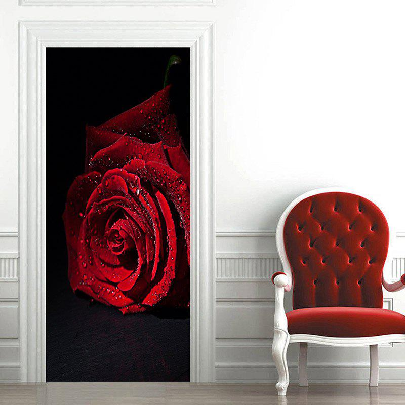Fresh Rose Party Door Art Stickers - RED 38.5*200CM*2PCS