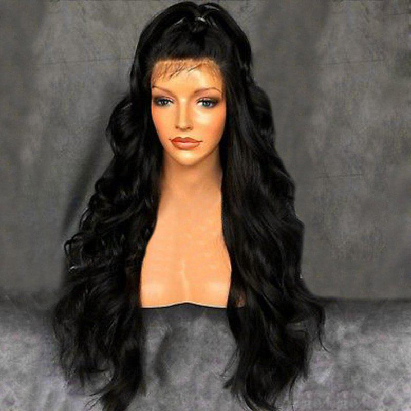 Free Part Fluffy Long Wavy Synthetic Lace Front Wig long free part fluffy kinky curly synthetic lace front wig