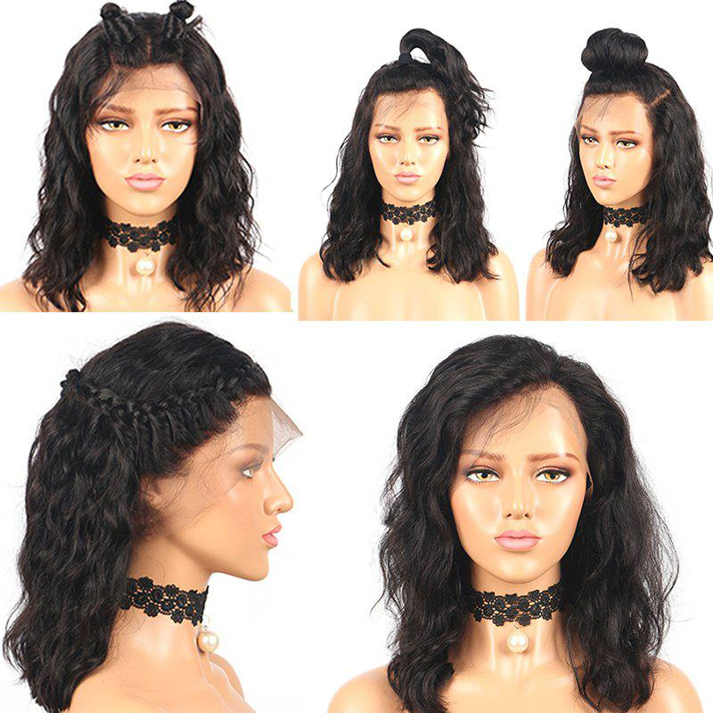 Medium Free Part Fluffy Water Wave Synthetic Lace Front Wig long free part fluffy kinky curly synthetic lace front wig