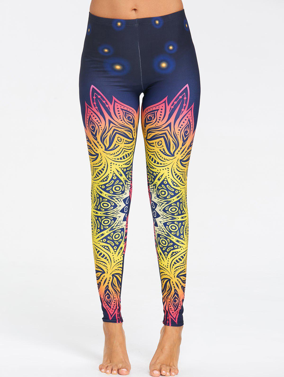 Leggings de Yoga Ombré Imprimé Floral - coloré XL