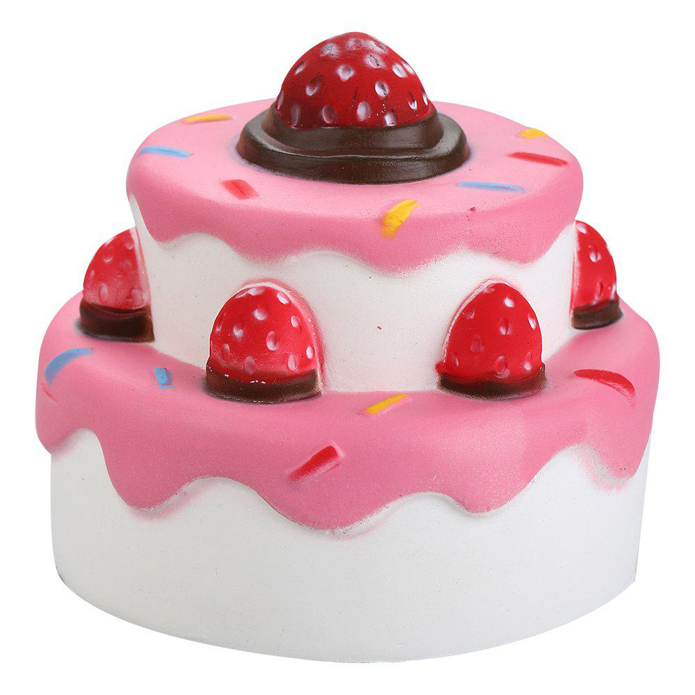 PU Slow Rising Squishy Strawberry Cake Simulation Toy браслеты indira браслет с камнем br042