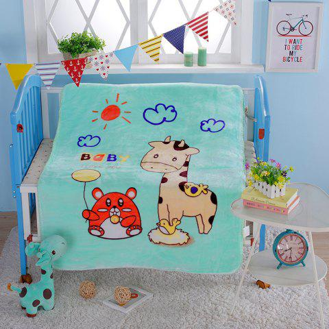 Baby Cute Cartoon Animal Coral Fleece Blanket - BREEZY SINGLE