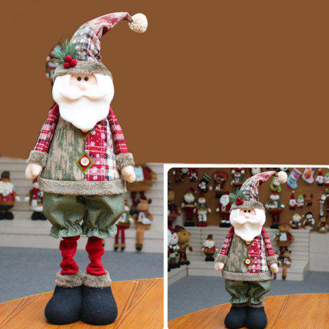 Snowman Santa Claus Reindeer Stretchable Doll Christmas Decoration - RED