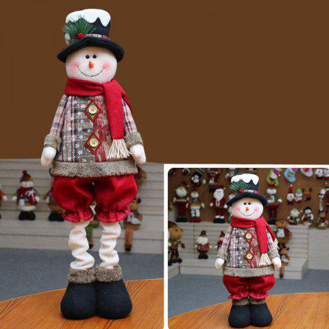Snowman Santa Claus Reindeer Stretchable Doll Christmas Decoration - WHITE