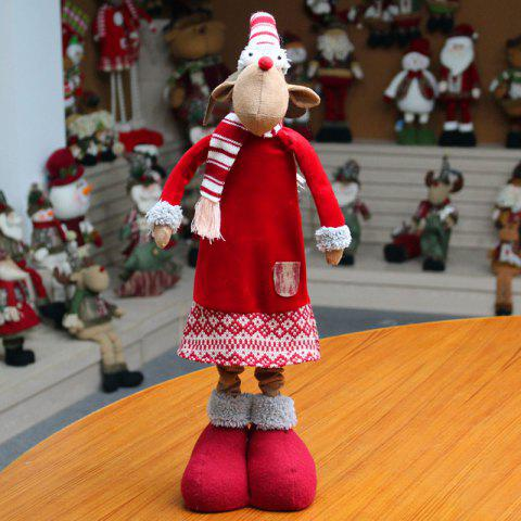 Christmas Dress-up Elk Stretchable Cloth Doll - RED